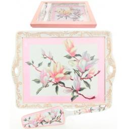 Купить Поднос с лопаткой Elan Gallery «Орхидея на розовом»