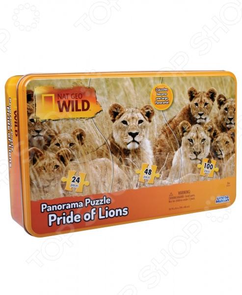 Пазл панорамный Uncle Milton «Львы» пазлы uncle milton пазл 3 в одном в жестяной коробке nat geo wild games