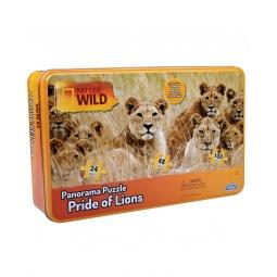 Купить Пазл панорамный Uncle Milton «Львы»