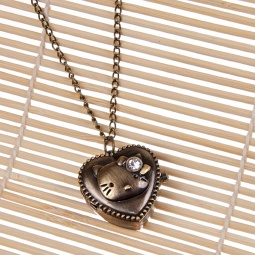 Купить Кулон-часы Mitya Veselkov «Китти со стразом»