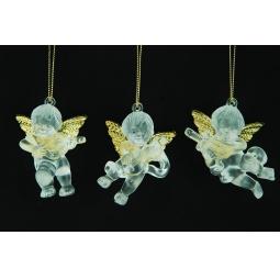 фото Елочное украшение Crystal Deco «Ангелочек». В ассортименте. Цвет: золотистый, серебристый
