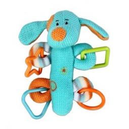 фото Мягкая игрушка развивающая Жирафики «Собачка с пищалкой»