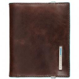 фото Чехол для кредитных и визитных карт Piquadro Blue Square PP1395B2. Цвет: коричневый
