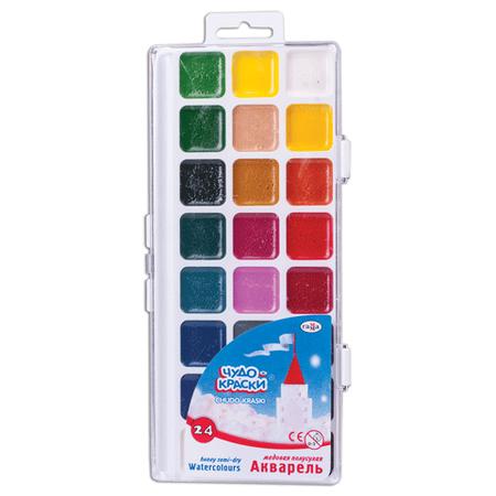 Купить Акварель медовая Гамма «Чудо-краски»: 24 цвета