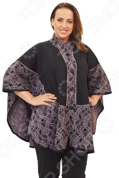 Пончо Milana Style «Энрика»Верхняя одежда<br>Пончо Milana Style Энрика это универсальная накидка, которая подойдет на любой возраст и стиль одежды, подойдет как для праздничных мероприятий, так и для повседневной носки. Выделка шерсти, фактурный рисунок и необычный дизайн, делает эту вещь уникальной. Классический крой и удобная длина ниже бедра будут идеально смотреться на женщинах с любым типом фигуры и любого возраста. Воротник стойка с застежкой на пуговицы удлиняет шею и украшает область декольте, а широкие рукава скрывают недостатки в области плеч. На фотографии пончо представлено с брюками Уран . Материал очень приятный к телу шерсть 30 ; пан 70 , прекрасно подойдет для прохладной осенней погоды. Такая ткань не линяет, не скатывается, формы от стирки не теряет. Швы обработаны текстурированными, эластичными нитями, благодаря чему не тянутся и не натирают кожу.<br>