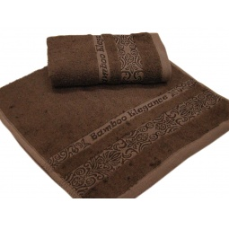 фото Полотенце TAC Bamboo elegance. Размер: 70х140 см. Цвет: шоколадный