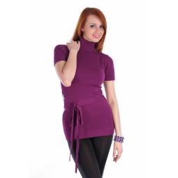 фото Туника вязаная Mondigo 9707. Цвет: лиловый. Размер одежды: 46