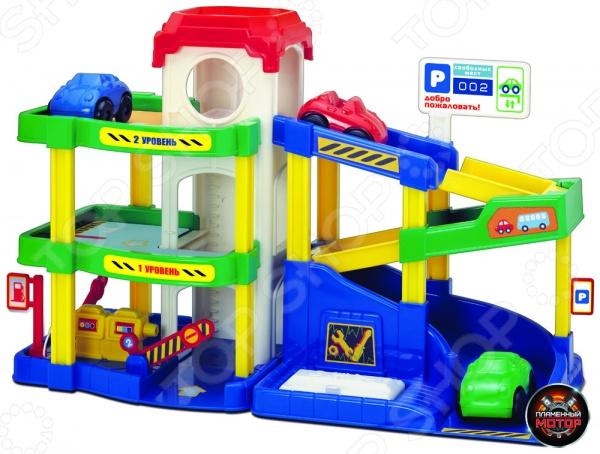Набор игровой для мальчика Пламенный Мотор «Паркинг. Автогородок»