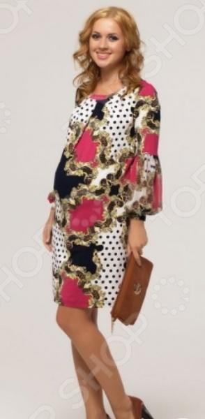 Платье для беременных Nuova Vita 2140.01. Цвет: малиновый