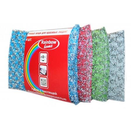 Купить Набор губок с абразивной поверхностью Rainbow home «Клетка»