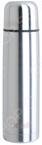 Термос Regent 93-TE-B-1Термосы и термокружки<br>Термос Regent 93-TE-B-1 качественное и практичное изделие из нержавеющей стали. Этот материал обладает огромным количеством преимуществ, в том числе высокой прочностью и устойчивостью к механическим воздействиям. Сталь не содержит вредных для здоровья компонентов, не искажает вкус и запах напитков. Термос будет очень полезен в быту, а также во время пикников или походов. Благодаря двойным стенкам и глубокому вакууму температура жидкости будет длительное время сохраняться неизменной. А крышку термоса во время похода или отдыха на природе можно использовать в качестве кружки. Изделие легко очищается как вручную, так и в посудомоечной машине.<br>
