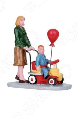 Фигурка керамическая Lemax «Мама везет малыша на каталке»