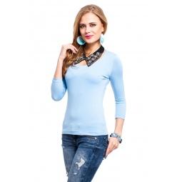 фото Кофта Mondigo 052. Цвет: голубой. Размер одежды: 42