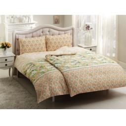 фото Комплект постельного белья TAC Donna. Семейный. Цвет: желтый