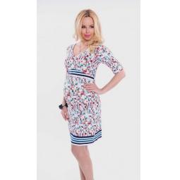 Купить Платье для беременных Nuova Vita 2108.03. Цвет: синий