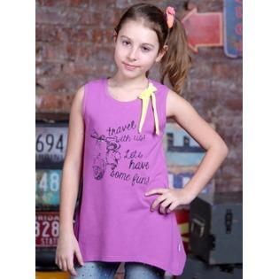 Купить Майка для девочек Detiland SS15-UBL-GTU-952. Цвет: сиреневый