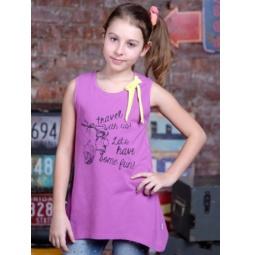 фото Майка для девочек Detiland SS15-UBL-GTU-952. Цвет: сиреневый. Рост: 140 см