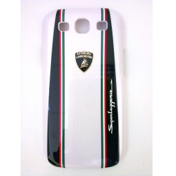 фото Чехол Lambordghini Cover Superleggera D1 для Samsung S3 I9300. Цвет: белый