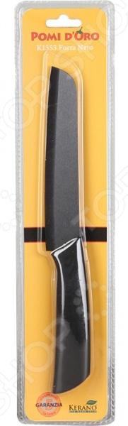 Нож керамический POMIDORO K1553Ножи<br>Нож керамический POMIDORO K1553 надежный и очень острый инструмент из керамики фирмы Kerano. Вы можете быть уверены, что материал лезвия не содержит вредных примесей, которые используются для аналогичных ножей из легированной стали. Главное преимущество керамики также в том, что она не вступает в химическую реакцию с продуктами в процессе резки. В результате вкус пищи остается неизменным, а лезвие не впитывает посторонние запахи. Керамические ножи прослужат очень долго без необходимости дополнительной заточки, если соблюдать несколько простых правил. Первым делом стоит подобрать правильную рабочую поверхность. К примеру, традиционная разделочная доска из дерева прекрасно подойдет для этих целей. Однако лучшим вариантом станет досточка из специального вспененного антибактериального пластика. Не стоит резать замороженные и твердые продукты. Назначение ножа филировочный.<br>