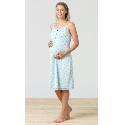 фото Сорочка для беременных BlackSpade 5698. Цвет: светло-голубой. Размер одежды: M