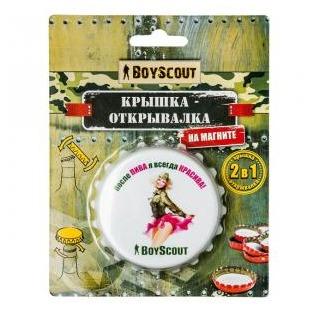 Купить Крышка-открывалка на магните Boyscout 61478. В ассортименте