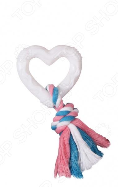 Игрушка для собак DEZZIE «Сердце с веревкой» игрушка для собак dezzie кегля с веревкой