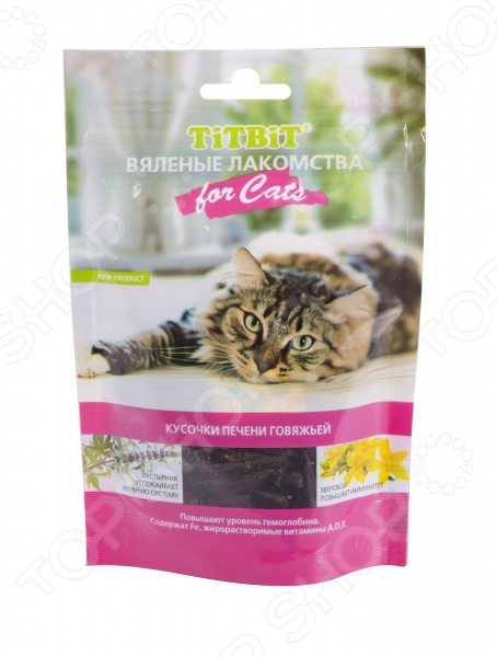 Лакомство для кошек TiTBiT 5132 «Вяленые кусочки печени говяжьей» kislis юбка 5132