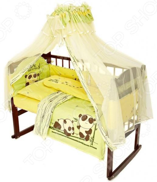 фото Комплект в кроватку Мир детства «Бамбуковая сказка», Постельные принадлежности для новорожденных