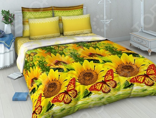Комплект постельного белья Василиса «Подсолнухи» постельное белье василиса комплект постельного белья из сатин�� 1 5 спальный