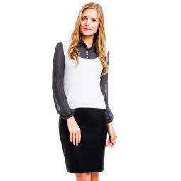 фото Блузка Mondigo 9445. Цвет: белый. Размер одежды: 46