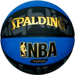фото Мяч баскетбольный Spalding NBA Highlight Silver