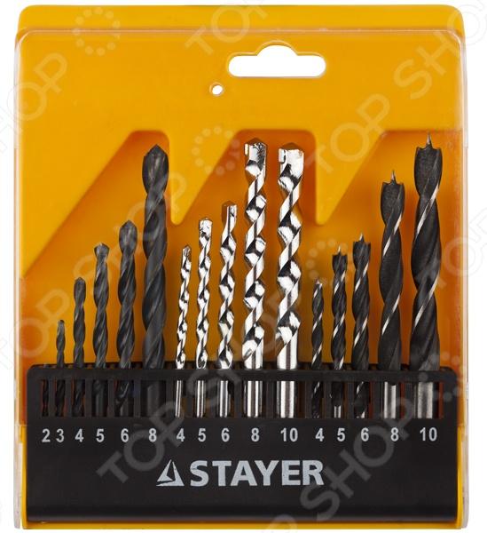 Набор сверл комбинированных Stayer Standard 29720-H16 набор сверл по дереву fit 5 шт 36101