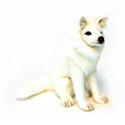 фото Мягкая игрушка Hansa «Волк белый сидящий»