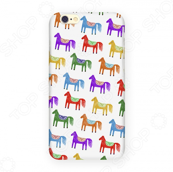 Чехол для iPhone 6 Mitya Veselkov «Цветные лошадки» цена 2017
