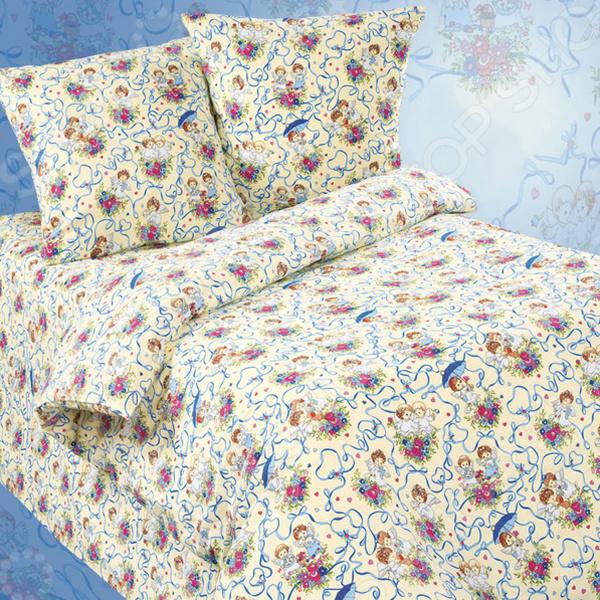 Детский комплект постельного белья Dream Time BLK-44-PP-168Детские комплекты постельного белья<br>Для каждого ребенка его комната целый мир, где царят уют, тепло и радость. Каждая деталь для этого помещения должна быть продумана с особой тщательностью. Ведь дети очень восприимчивы к внешним факторам! Несомненно, это относится и к постельному белью. Важно все: материал, расцветка, рисунок, текстура ткани. Лучшее постельное белье для вашего ребенка! Детский комплект постельного белья Dream Time BLK-44-PP-168 это отличный вариант и для родителей, и для их чад. Постельные принадлежности выполнены из высококачественного хлопка. Этот материал обладает исключительными потребительскими качествами и ценится абсолютно всеми людьми.  Свойства ткани:  Прочная и износоустойчивая;  Не накапливает статическое электричество;  Отлично впитывает влагу;  Не препятствует дыханию кожи;  Хорошо сохраняет тепло;  Легко очищается от пятен;  Не выцветает после стирки;  Приятная на ощупь;  Легко гладится. В объятиях этого чудесного комплекта ребенку будет комфортно и зимой, и летом. В теплое время он будет ощущать свежесть и прохладу, а в осенний и зимний период так необходимое тепло. Хлопковая ткань очень приятна на ощупь, поэтому ее соприкосновение с кожей доставит вашему чаду удовольствие! Сделайте детскую комнату уютнее Постельное белье радует не только качеством, но и замечательным дизайном. Приятная гамма цветов, рисунок в виде чудесных ангелочков с букетами обязательно понравятся и мальчикам, и девочкам. Эти милые создания наполнят помещение спокойствием и умиротворением, чтобы сон ребенка был крепким и сладким.  Постельное белье от Dream Time идеальное решение для детской комнаты. Оно станет гармоничным дополнением помещения, наполнит его уютом и невероятной сказочной атмосферой. Ведь детство это чудесная пора. И прелесть его должна проявляться во всем, даже в домашнем текстиле!<br>