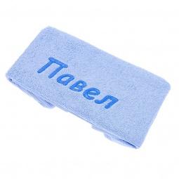 фото Полотенце подарочное с вышивкой TAC Павел. Цвет: голубой