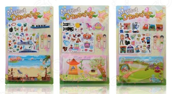 Игра обучающая Shantou Gepai магнитная «Куклы» 1979-14. В ассортиментеМагнитные игры<br>Товар продается в ассортименте. Цвет изделия при комплектации заказа зависит от наличия товарного ассортимента на складе. Игра обучающая Shantou Gepai Куклы 1979-14 предназначена для таких маленьких, но уже таких любознательных малышей. Внутри упаковки находится набор разнообразных фигурок и игровое поле. Все детали снабжены магнитами, поэтому их легко прикрепить друг к другу. Небольшой размер изделий позволяет легко брать их маленькими детскими ручками. Игра обучающая Shantou Gepai Куклы 1979-14 изготовлена из материала, который абсолютно безопасен для здоровья ребенка. Она помогает развивать память, наблюдательность и образное восприятие, а также расширять словарный запас. Постоянно манипулируя деталями, кроха улучшает мелкую моторику рук и координацию движений.<br>