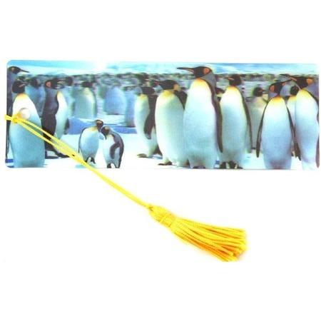 Купить 3D-закладка для книг Липуня «Пингвины»