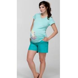 Купить Шорты для беременных Nuova Vita 5722.03. Цвет: бирюзовый