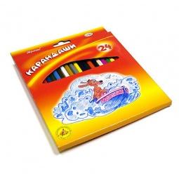 фото Набор карандашей цветных Гамма «Мультики»: 24 цвета