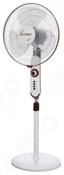 Вентилятор напольный Endever Breeze-03Вентиляторы<br>Вентилятор напольный Endever Breeze-03 мощностью 50 Ватт, предназначен для поддержания оптимальных климатических условий в вашем доме в жаркие летние дни. Модель оснащена тремя скоростными режимами с механическим управлением, а также таймером на 60 минут. Диаметр лопастей составляет 40 см. Максимальный угол вращения на подставке достигает 90 . Благодаря широкому основанию, вентилятор надежно зафиксирован на поверхности. Для вашей безопасности предусмотрена защитная решетка.<br>