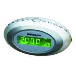 фото Радиочасы c термометром ERISSON RC-2202A. Цвет: серебристый