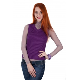 фото Жилет Mondigo 9007-78. Цвет: фиолетовый. Размер одежды: 46