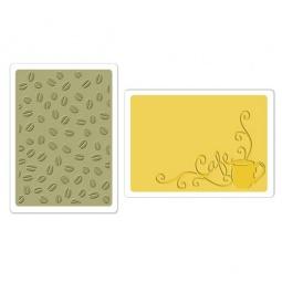 фото Набор форм для эмбоссирования Sizzix Textured Impressions Кофейный набор