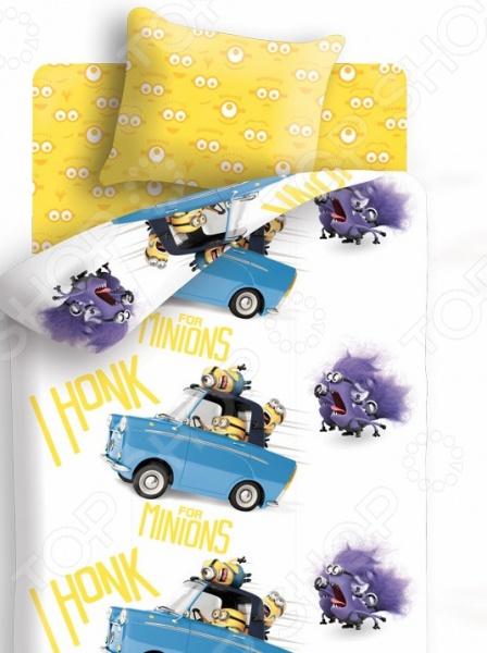 Комплект постельного белья Непоседа «Погоня». 1,5-спальный непоседа комплект дорога 1 5 спальный союзмультфильм непоседа