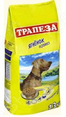 Корм сухой для собак Трапеза с ягненком и рисомСухой корм<br>Корм сухой Трапеза с ягненком и рисом предназначен специально для взрослых собак, страдающих от аллергии к мясу птицы и непереносимости распространенных продуктов. Представленный вид питания содержит все необходимые витамины, минералы и питательные вещества, чтобы домашний любимец был сытым, энергичным и здоровым. Стоит отметить, что ученым из компании Трапеза удалось совместить удобную для разгрызания форму крокета и его прекрасные вкусовые качества, поэтому ваш четвероногий друг будет в восторге от своего нового блюда. Преимущества корма Трапеза с ягненком и рисом  Мясо ягненка обеспечивает необходимое количество протеинов;  Витамины E и C укрепляют иммунную систему животного;  Линолевая кислота и витамины группы B оказывают благотворное воздействие на кожу и шерстку;  Все питательные вещества полностью усваиваются.<br>