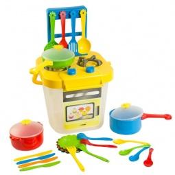 фото Игровой набор: кухонная плита и посуда Тигрес 39153. В ассортименте