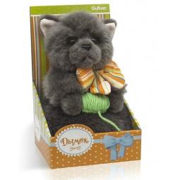 Купить Мягкая игрушка Gulliver «Котик Дымок с клубком и бантом»