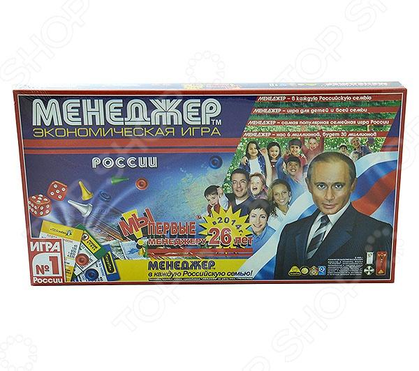 Настольная игра ПетроПан Менеджер России представляет собой простую, интересную и развивающую интеллект игру, которая отлично подойдет для игры в дружной кампании. Набор в игровой форме познакомит с основами рынка, а также поможет развить у играющих способности экономического мышления.