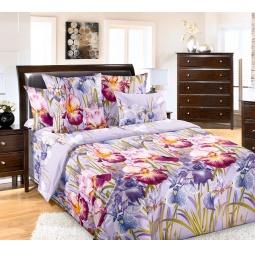 фото Комплект постельного белья Королевское Искушение «Ирис». Ткань: перкаль. 2-спальный. Размер простыни: 220х195 см
